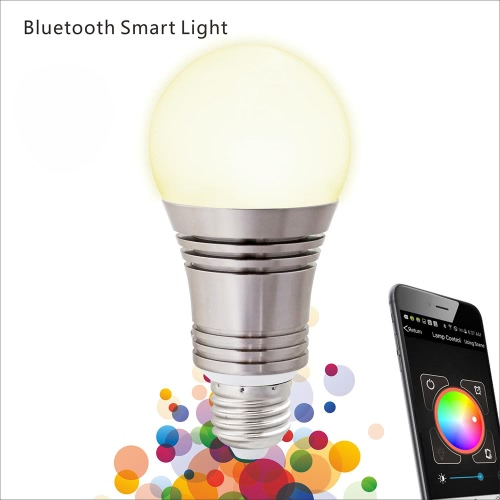 Lixada Superlight Bluetooth Led Rgb Smart Light E27 Bulb